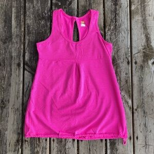 Lucy | Pink Chevron Athletic Tank